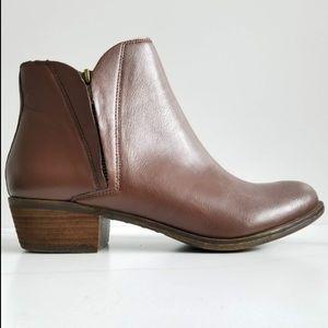 Lucky Brand Brenon Double Zip Leather Booties